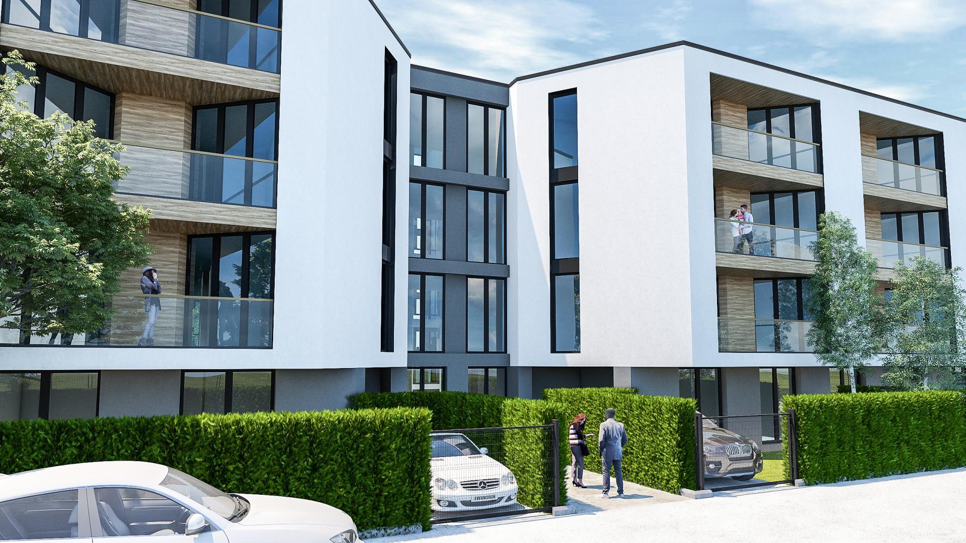 апартаментите с двор имат и включено парко място с врата