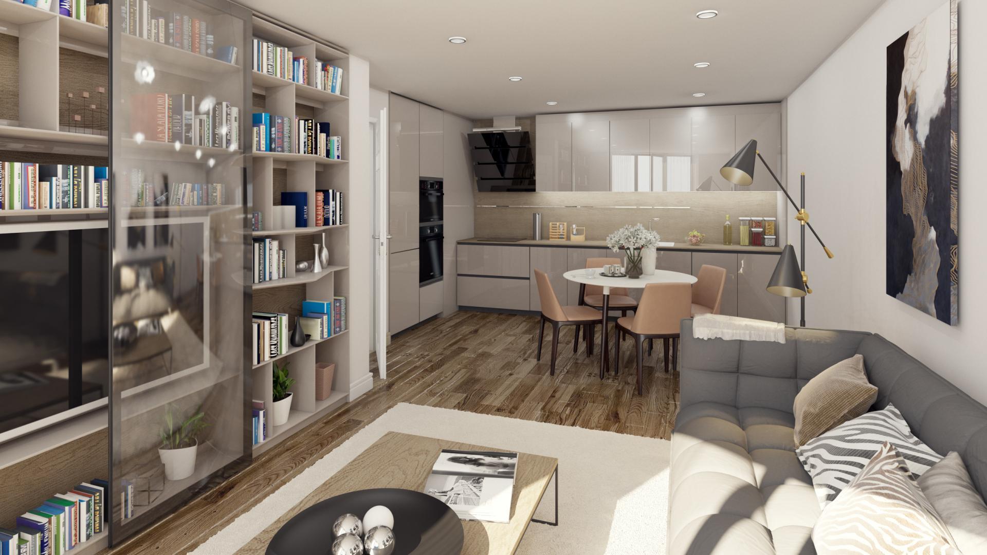 разпределение хол на апартамент 408B в комплекс Атлантис Атмосфера